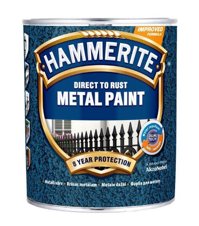 Metalo dažai Hammerite Hammered, raudoni, 750 ml