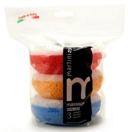 Martini SPA Colour Massage Sponges 3pcs