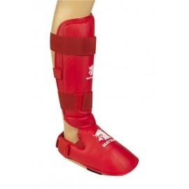 Matsuru Karate Shin Foot Protector WKF L Red