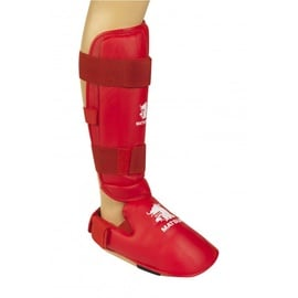 Matsuru Karate Shin Foot Protector WKF L Red