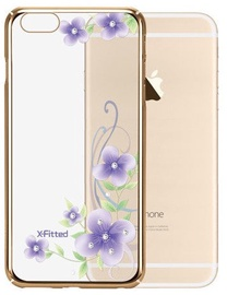 X-Fitted Orchid Fairy Swarovski Crystals Back Case For Apple iPhone 6/6s Gold
