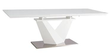 Обеденный стол Signal Meble Modern Alaras III, белый, 1600x900x750мм
