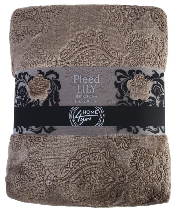 Home4you Lily 3D Blanket 150x200cm Brown