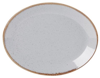 Porland Seasons Oval Dinner Plate 24.3x18.55cm Grey