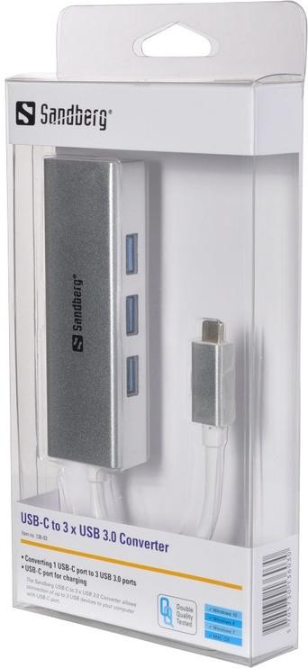 Sandberg USB-C to 3 x USB 3.0