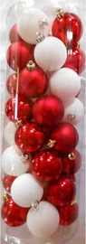 Verners Christmas Tree Balls 40pcs White/Red