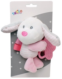 Axiom New Baby Plush Toy With Teether Dog Pink 16cm