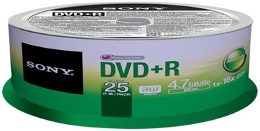 Sony DVD+R 4.7GB 16x 25 pcs