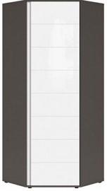 Black Red White Graphic Hallway Wardrobe 78x191x78cm Wolfram Grey/White