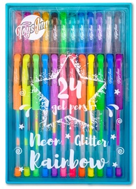 Stnux ToysInn Neon Glitter Rainbow Gel Pens 24pcs