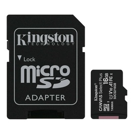 Mälukaart Kingston 16GB CL10 MicSDHC