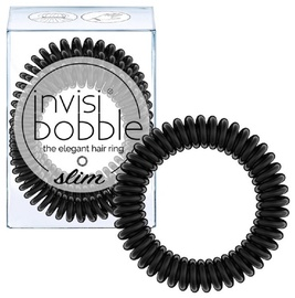 Invisibobble Slim Hair Rings 3pcs True Black