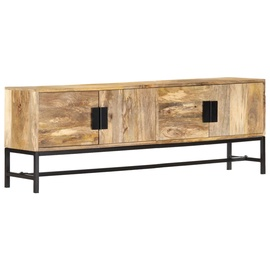 TV-laud VLX Solid Mango Wood 285863, pruun/must, 300 mm x 1400 mm x 500 mm