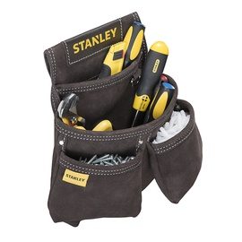 Stanley Leather Double Nail Pocket Pouch 300x70x300mm Black