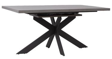 Pusdienu galds Home4you Eddy 24504, melna/pelēka, 2000x900x760mm