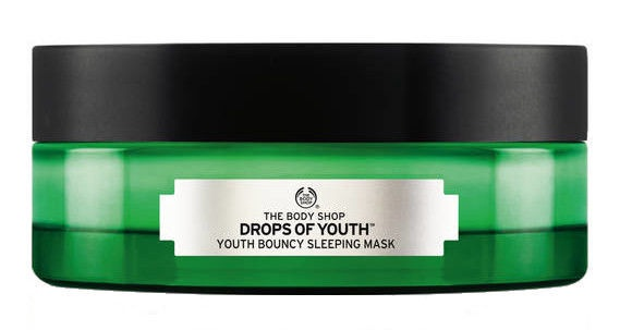 Veido kaukė The Body Shop Drops Of Youth Bouncy Sleeping Mask, 90 ml