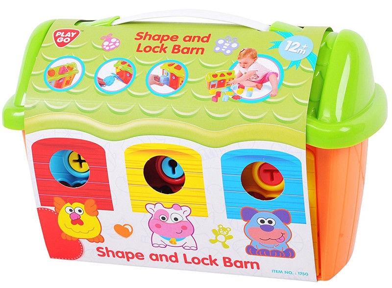 Lavinamasis žaislas PlayGo Shape & Lock Barn 1750/1751