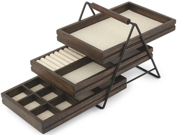 Umbra Terrace Jewelry Tray Black/Wood