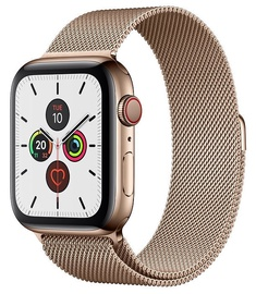 Apple Watch Series 5 44mm GPS Gold Stainless Steel Case with Gold Milanese Loop Cellular
