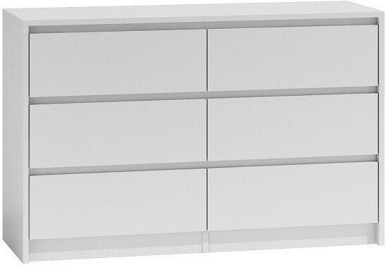 Kumode Top E Shop Karo K120 White, 120x40x75 cm