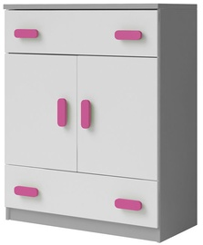 Idzczak Meble Smyk II 03 Chest Of Drawers 2S2D Grey/Pink