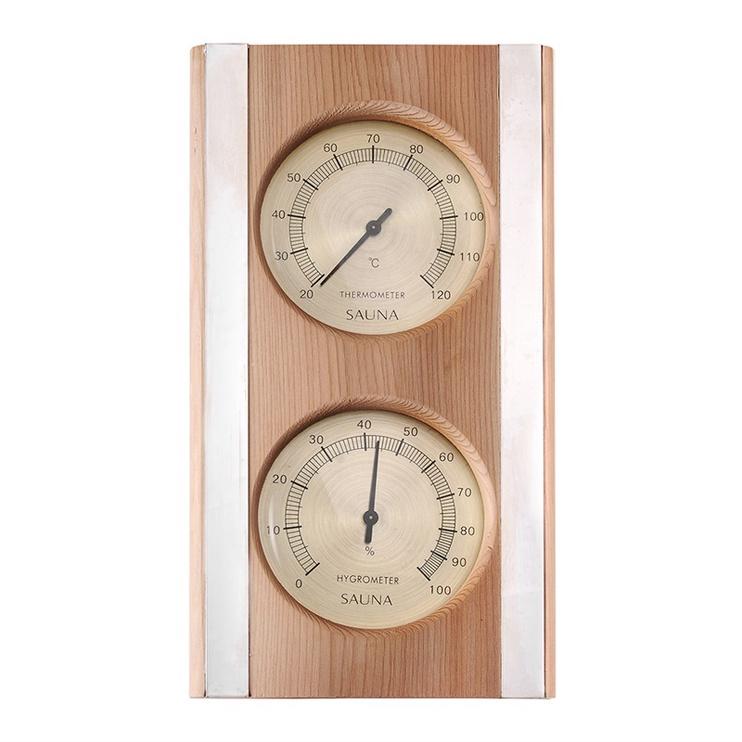 Flammifera AP-042BW Sauna Thermometer with Hygrometer