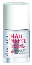 Küünte alusvahend Rimmel London Nail Nurse Nail Base & Top Coat 5in1 12ml