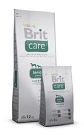 Sausas ėdalas šunims Brit Care Senior, su aviena ir ryžiais, 3 kg
