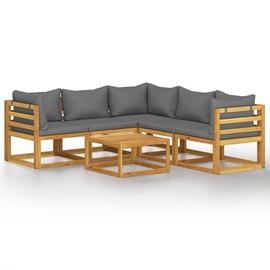 Комплект уличной мебели VLX 6 Piece Garden Lounge Set 3057612, серый, 5 места