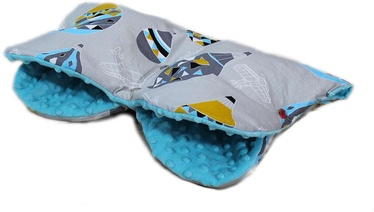 Перчатки для коляски Babylove Minky, синий/серый