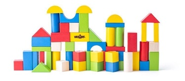 Woody Toddler Blocks Colour In Bucket 50pcs 90911