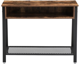 Songmics Vintage Sofa Table Brown/Black 100x35x80cm