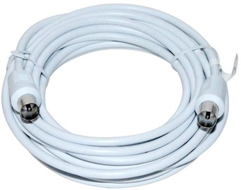 Vakoss Cable Coax to Coax White 5 m