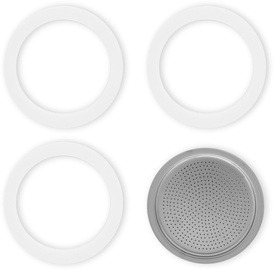 Bialetti 0800010 3 Gasket + 1 Filter Bialetti Moka Induction 6 Cups