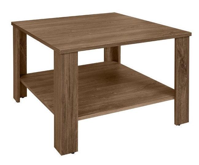 Kafijas galdiņš Black Red White Odette, brūna/ozola, 675x675x475 mm