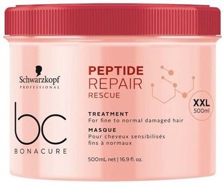 Kaukė plaukams Schwarzkopf Bonacure Peptide Repair Rescue Treatment, 500 ml