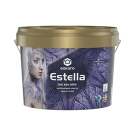 Seinavärv Estella valge täismatt 9l