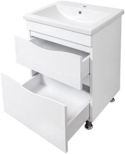 Sanservis Smile-80 Cabinet with Basin Como-80 White 80x82x45cm
