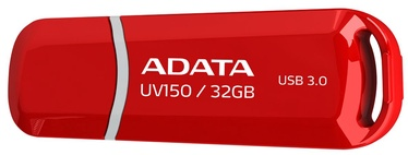 USB atmintinė ADATA DashDrive UV150 Red, USB 3.0, 32 GB