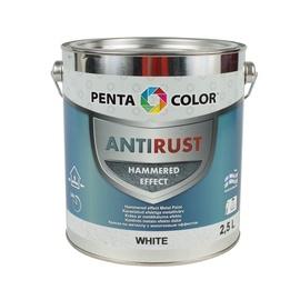 Universalūs kaldinto metalo efekto dažai Pentacolor, balti, 2.5 l