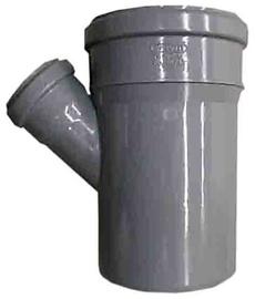 Kanalizācijas caurules trejgabals Wavin D110/50mm, 67°, PVC