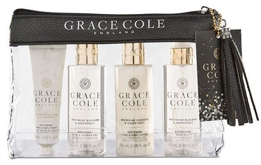 Grace Cole Luxury Travel Essentials 4pcs Nectarine Blossom & Grapefruit