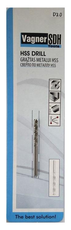 Urbju komplekts metālam Vagner SDH HSS, Ø2mm, 2gab.