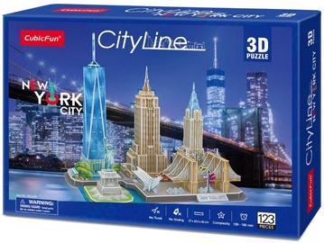 3D mīkla CubicFun City Line New York City 3D MC255h, 123 gab.