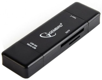 Gembird Multi-USB Card Reader OTG Black