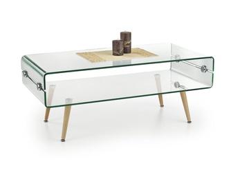 Kavos staliukas Miranda skaidrus, 110 x 55 x 45 cm