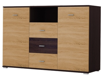Idzczak Meble Tango 135 Chest Of Drawers Chocolate/Sonoma Oak