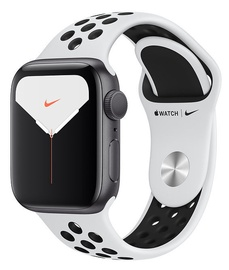 Apple Watch Nike Series 5 40mm GPS Space Gray Aluminum Case with Pure Platinum Black Band