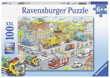 Puzle Ravensburger XXL Vehicles In The City 105588, 100 gab.