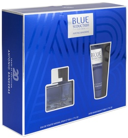 Antonio Banderas Blue Seduction 50ml EDT + 50ml After Shave Balm New Design